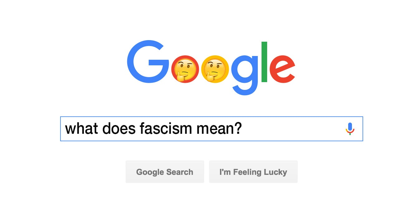 a ton of people are looking up the definition of fascism for merriam webster reported sunday evening that fascism is currently the top look up on its site according to the dictionary searches for misogyny