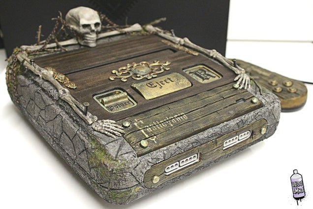 SNES Turned Into Dracula's Tomb From Castlevania