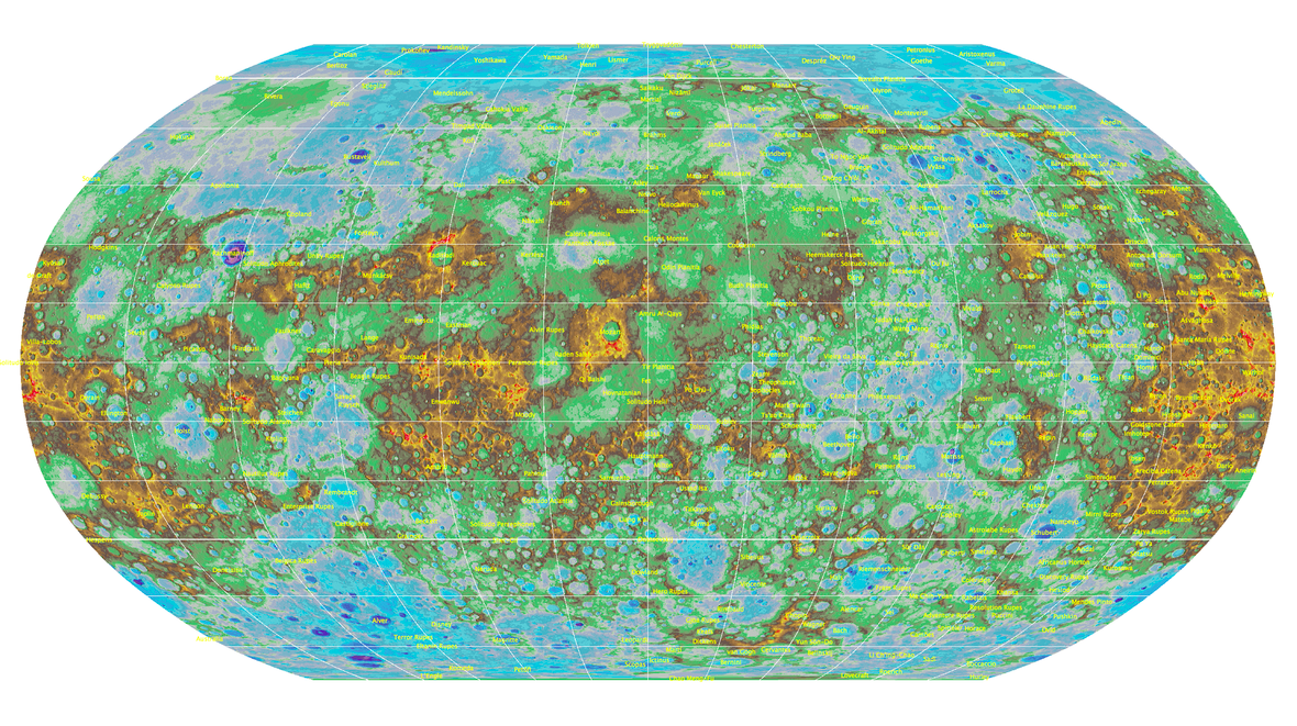 This Map of Mercury Is Perfect for Interplanetary Roadtrip Planning