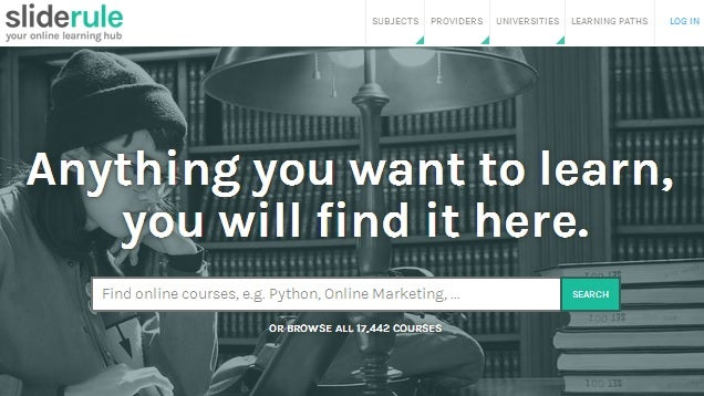 SlideRule Searches For The Best Online Courses In Any Category