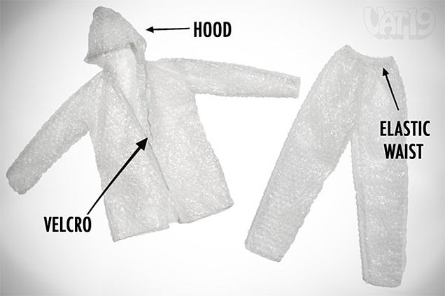 What Harm Could Possibly Befall Someone Wearing a Bubble Wrap Suit?