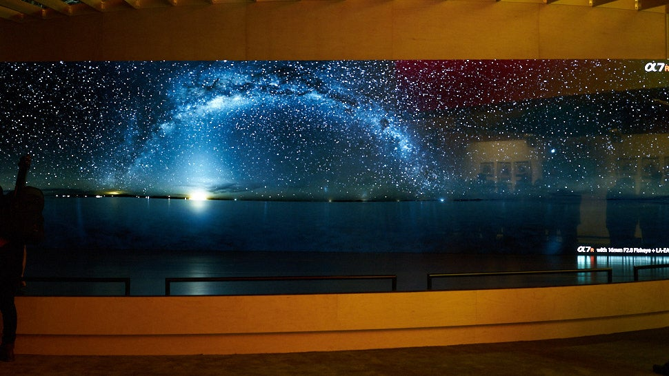 Sony's Gigantic Space Wall Is Actually Hundreds Of Tiny LED Tiles