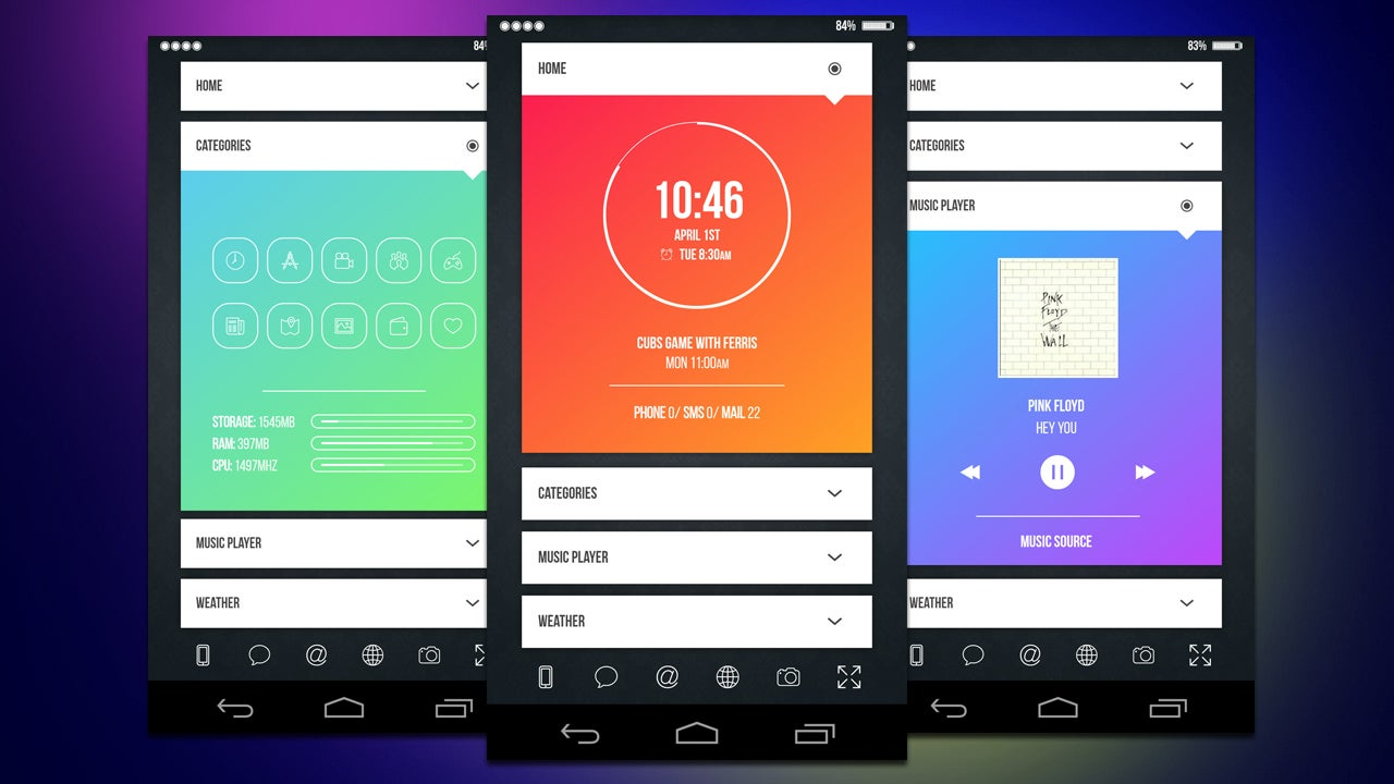 The expand home screen lifehacker australia for Design home android