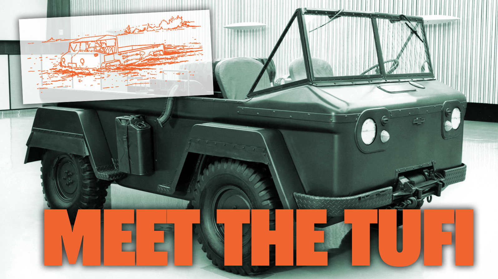 Chevy Once Designed An Amphibious Jeep Competitor Out Of The Corvair