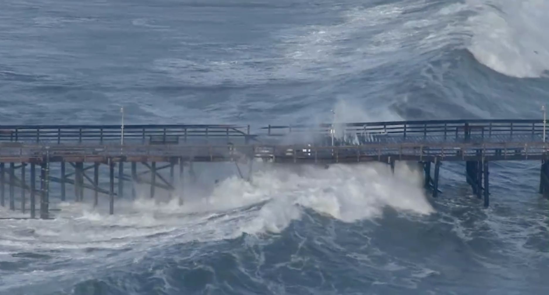 A California Pier Is the First Victim of El Niño