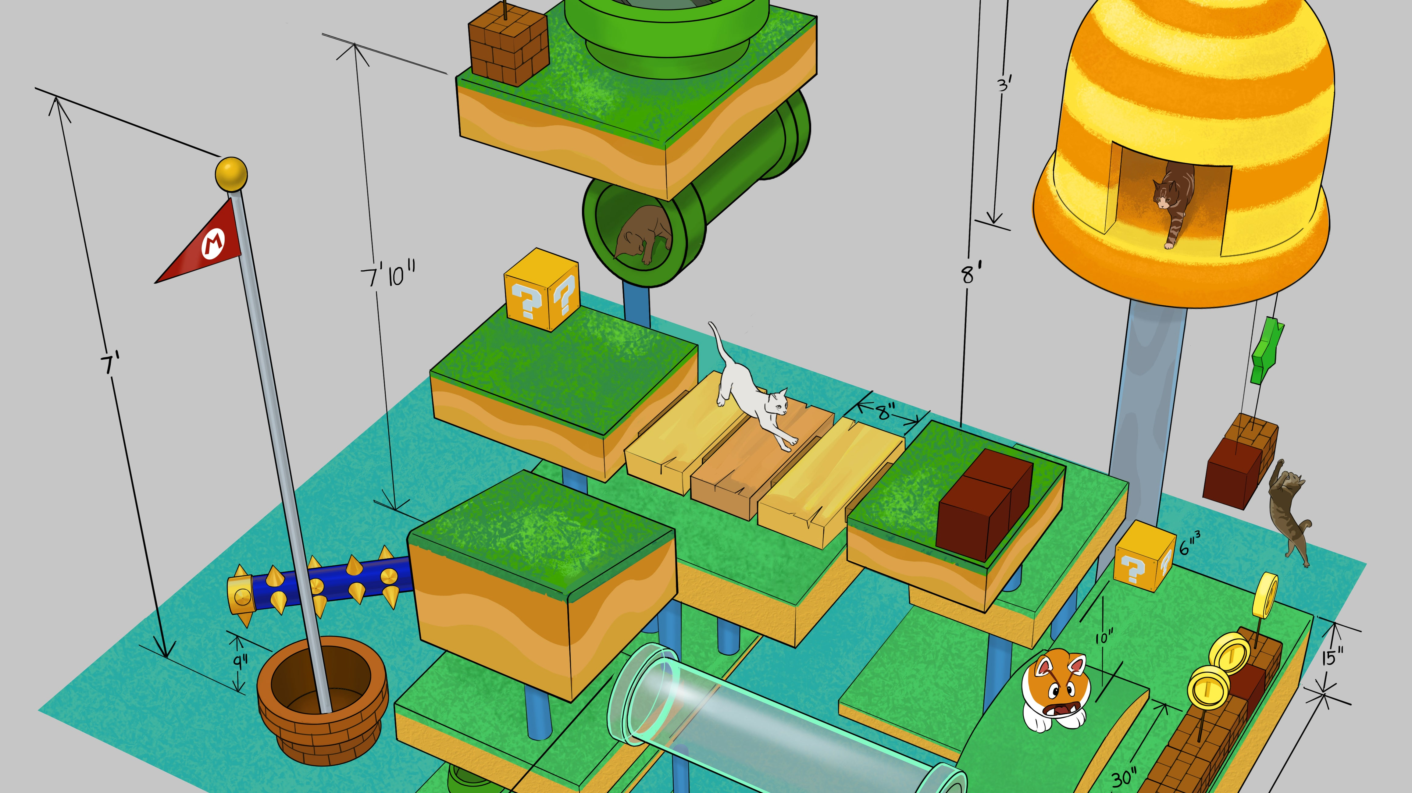 A Blueprint For A 70 Square Foot Cat Paradise
