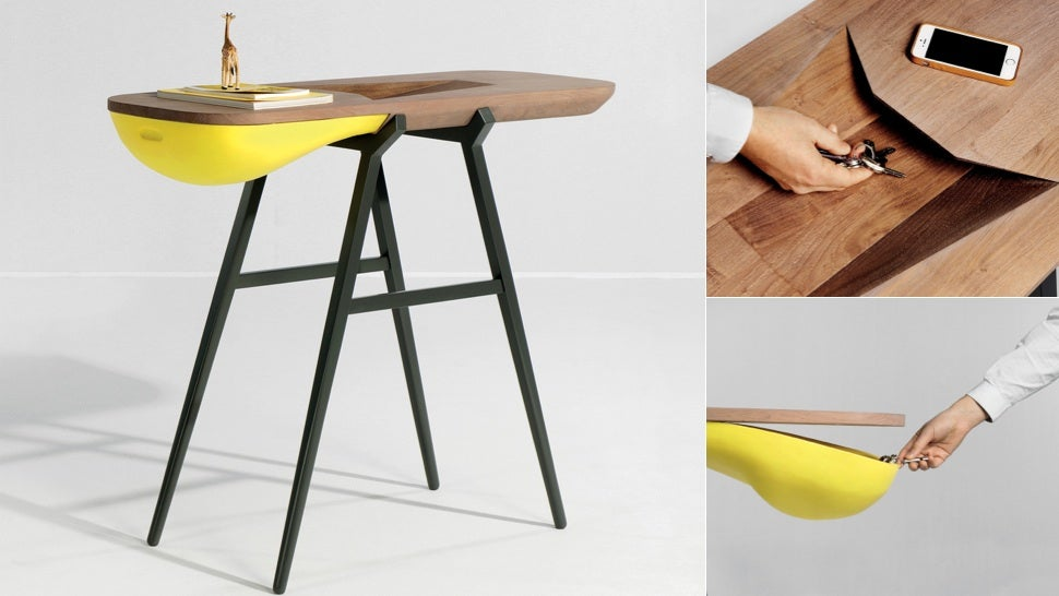 This Side Table Gobbles Up Your Clutter Like a Hungry Animal