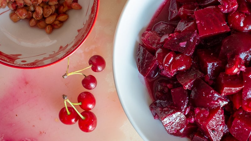 This Beetroot And Sour Cherry Salad Is A Study In Contrasts