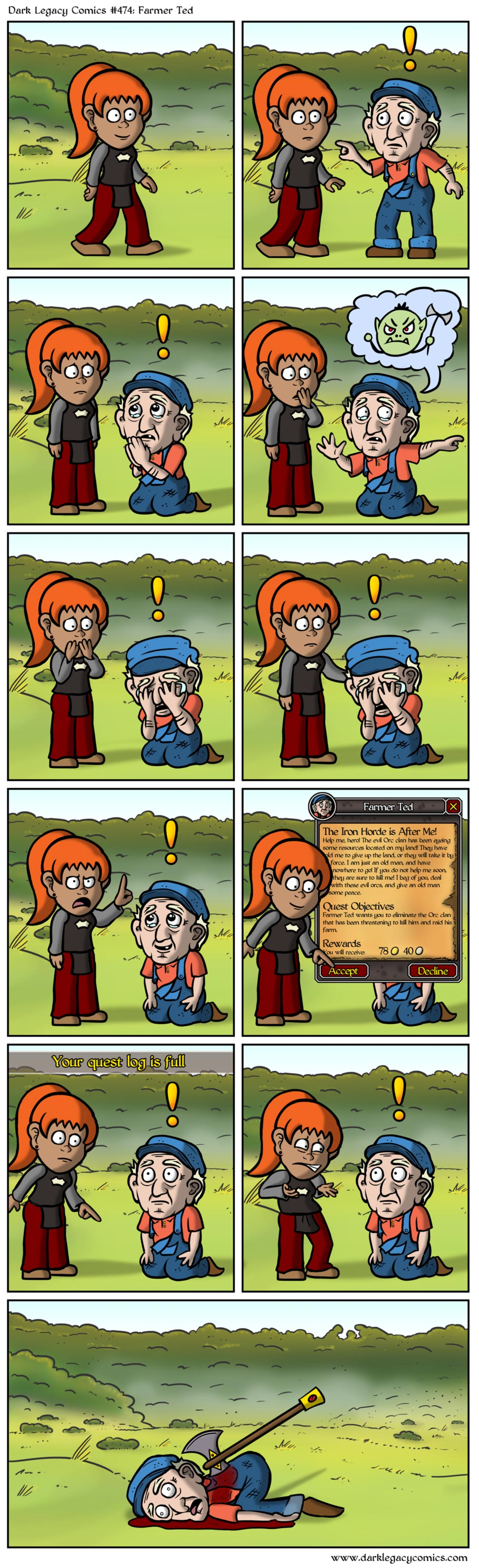 The Harsh Reality of Questing In RPGs