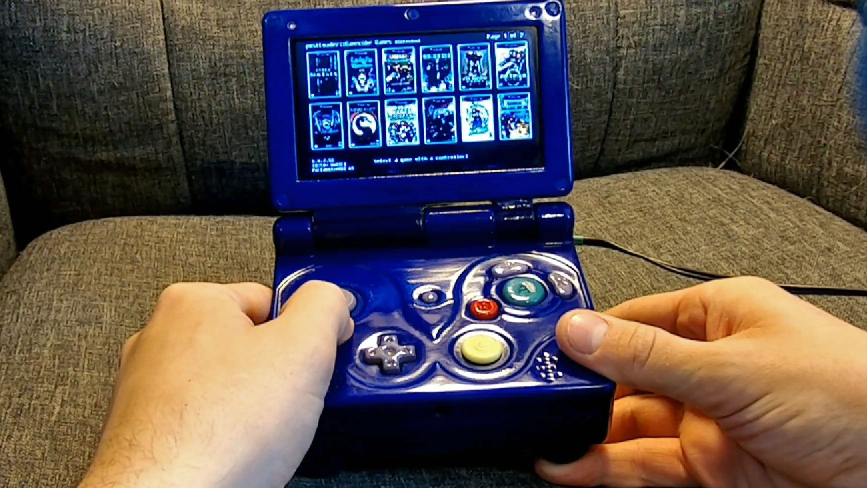 There's An Entire Nintendo Wii Packed Inside This Custom Jumbo Game Boy Advance