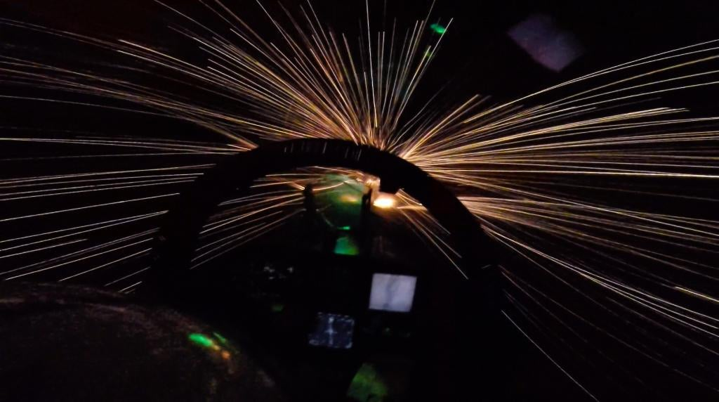 F-18 Fighter Jet Jumps Into Hyperspace