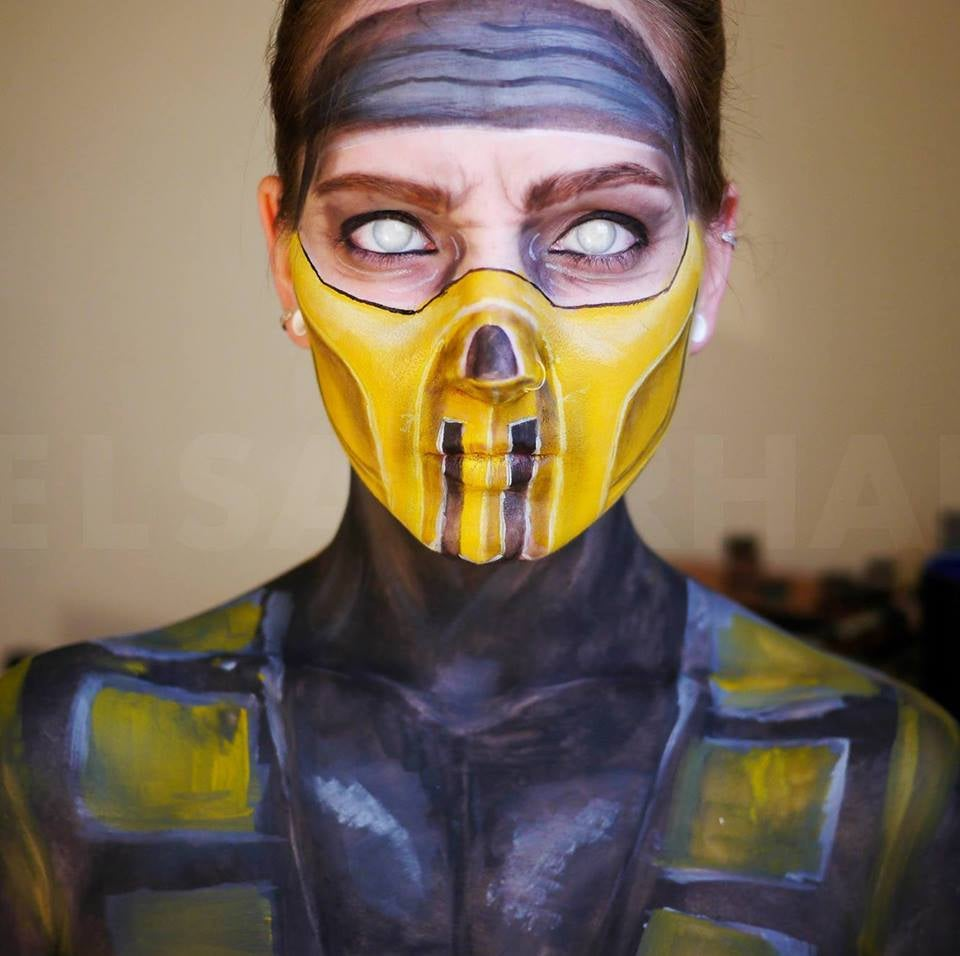 Woman completely transforms her face with make up