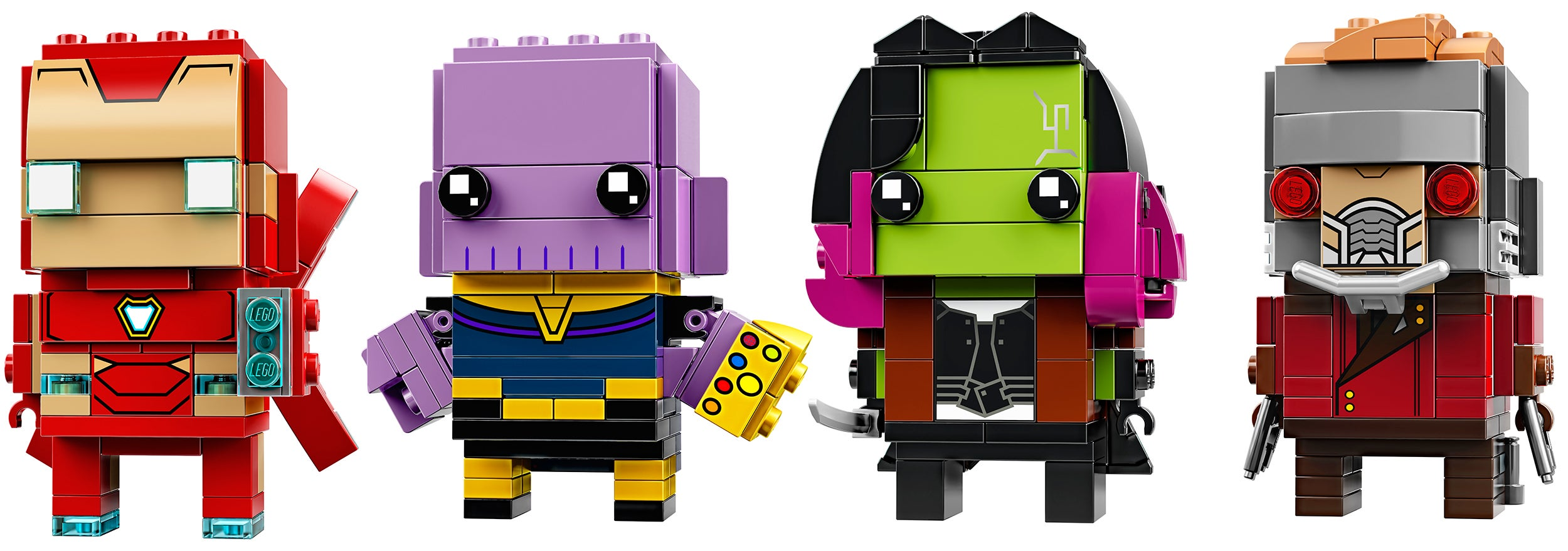 Exclusive: Thanos, Iron Man, Gamora, And Star-Lord Are Getting The Lego Brickheadz Treatment