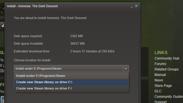 Steam Now Allows You to Preload Games to Any Folder