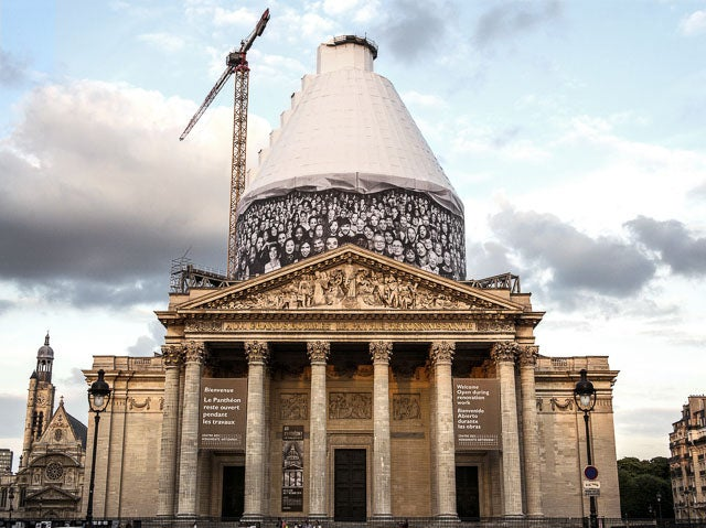 Why the Panthéon Is Covered In Black-and-White Faces