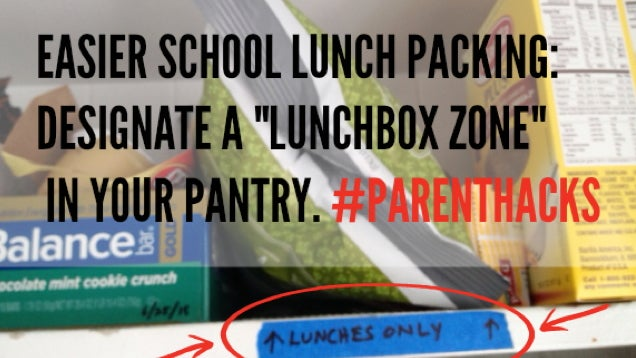 Create A 'Lunchbox Zone' To Prevent Snack Thieves At Home