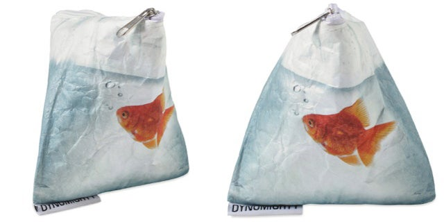 This Water-Resistant Goldfish Pouch Looks Wet But Keeps Stuff Dry