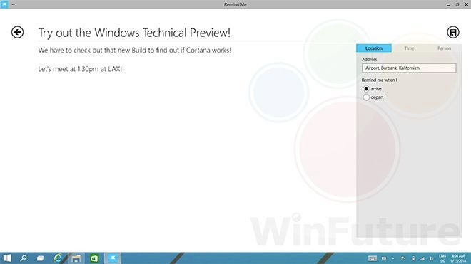 Leaked Windows 9 Screenshots Show Hints Of Cortana On The Desktop