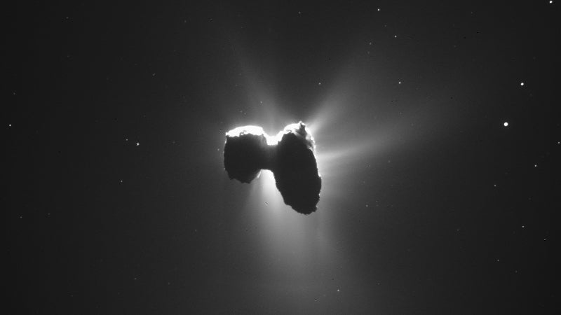 Rosetta's Comet Looks Even Weirder When It's Backlit By The Sun