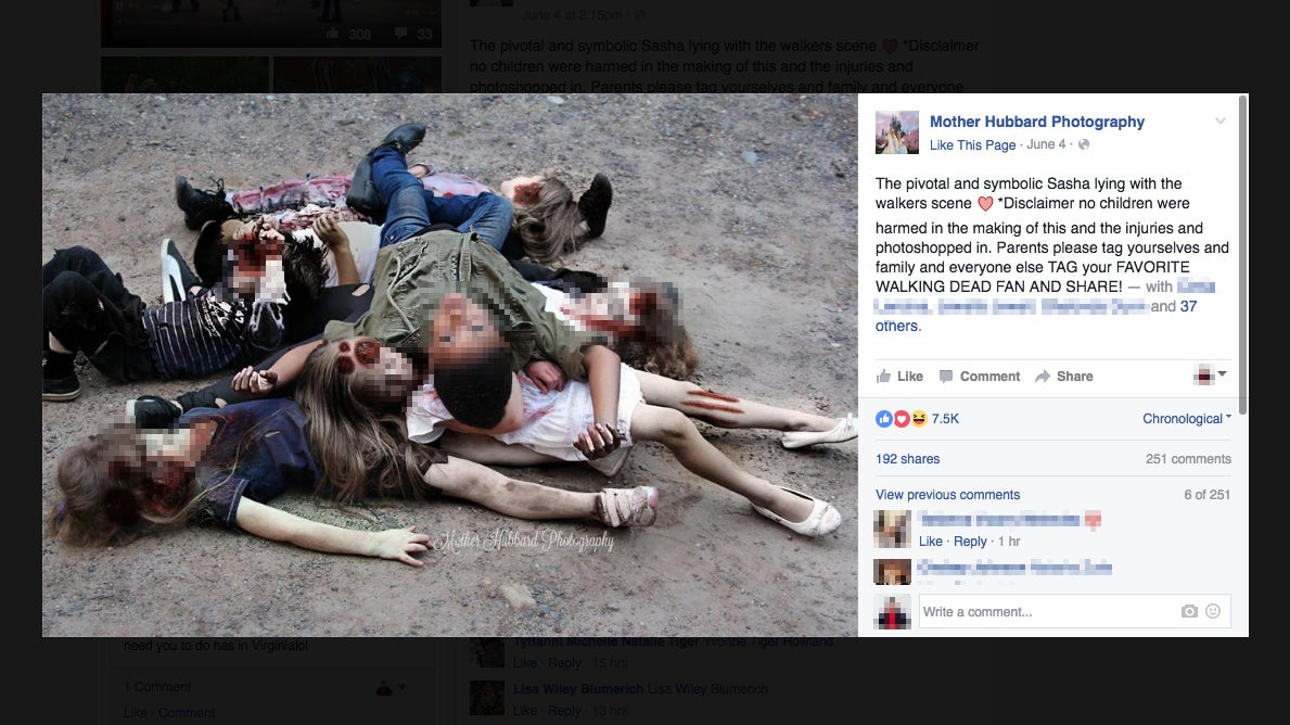 Toddlers Depict Walking Dead's Bloodiest Scenes in Disconcerting Photo Shoot