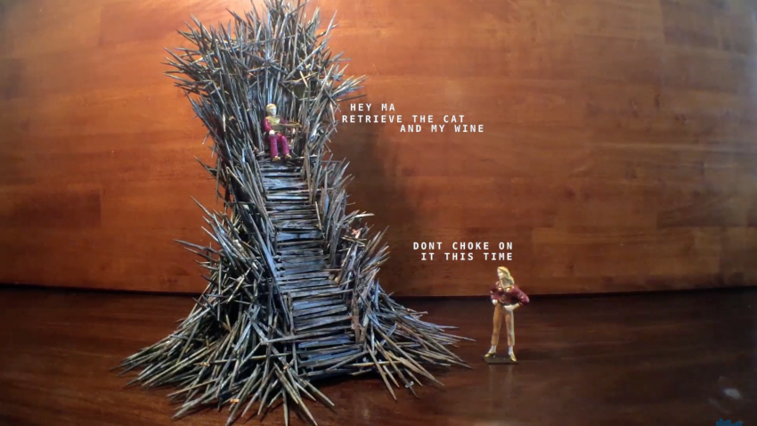 Someone Made a Miniature of the Original Iron Throne and Ouch My Butt