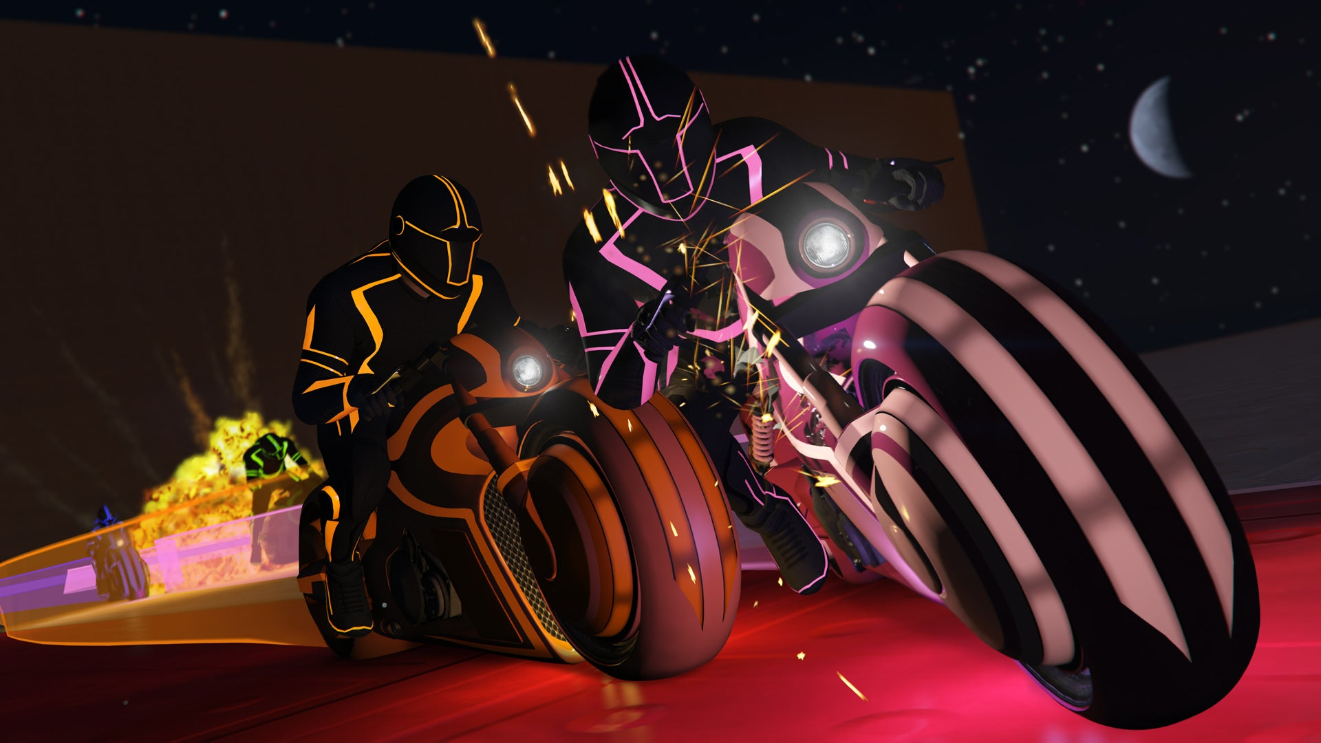 GTA Online, Now With Tron-Style Lightcycle Battles