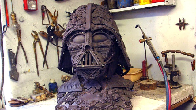 I Want This Darth Vader Sculpture Made From Scrap Metal