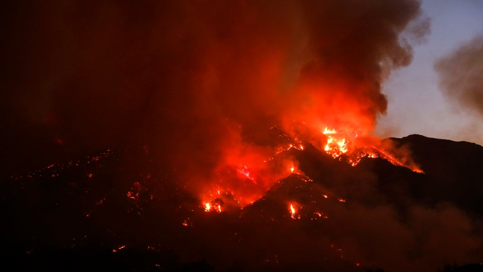 Thousands Forced To Evacuate As California's Sand Fire Continues To Spread
