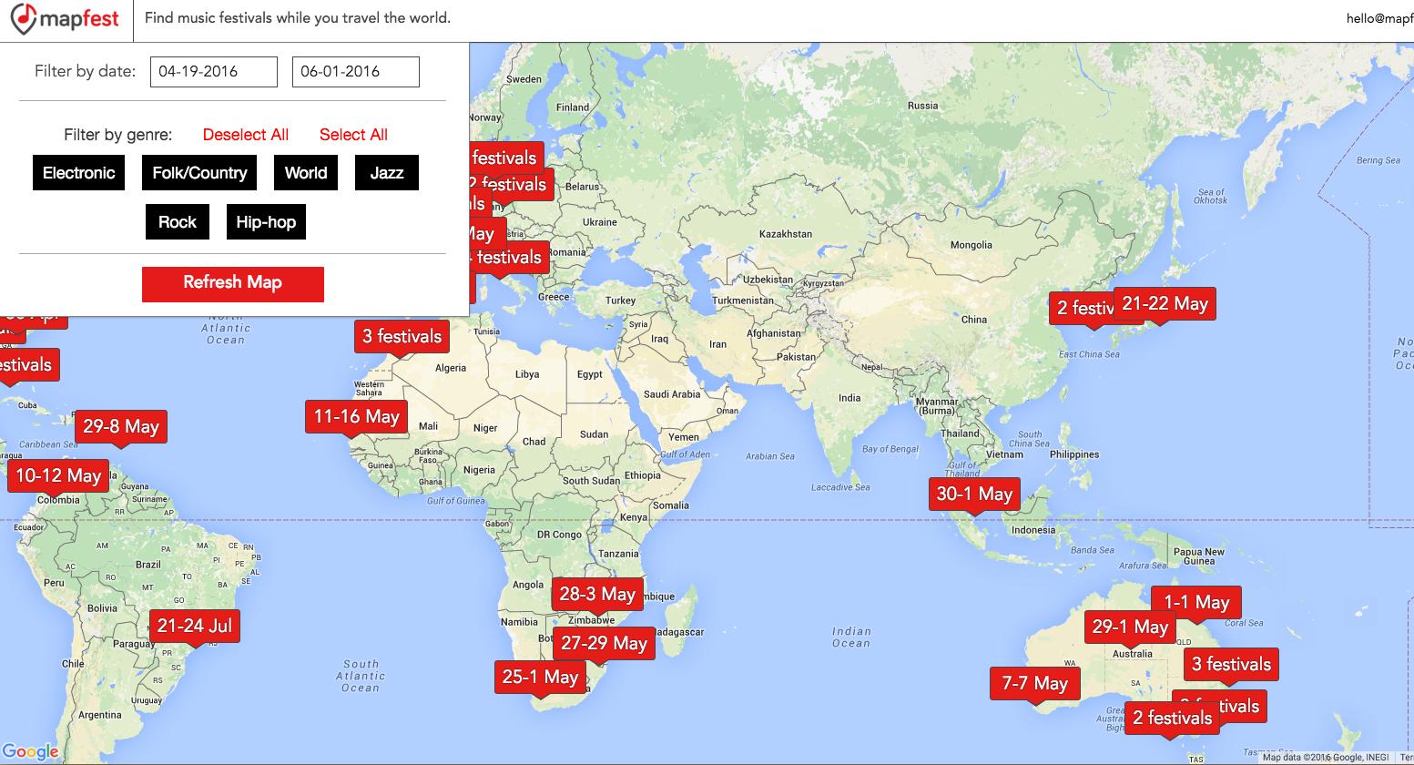 Mapfest Lets You Explore Music Festivals Around the World