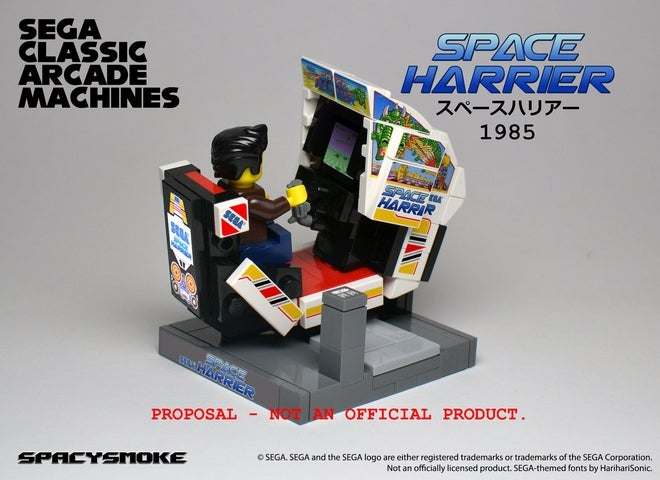 Classic Arcade Machines in Tiny LEGO Form
