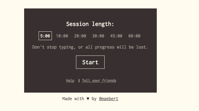 Extreme 'Writer's Block' App Destroys Your Progress If You Stop Typing