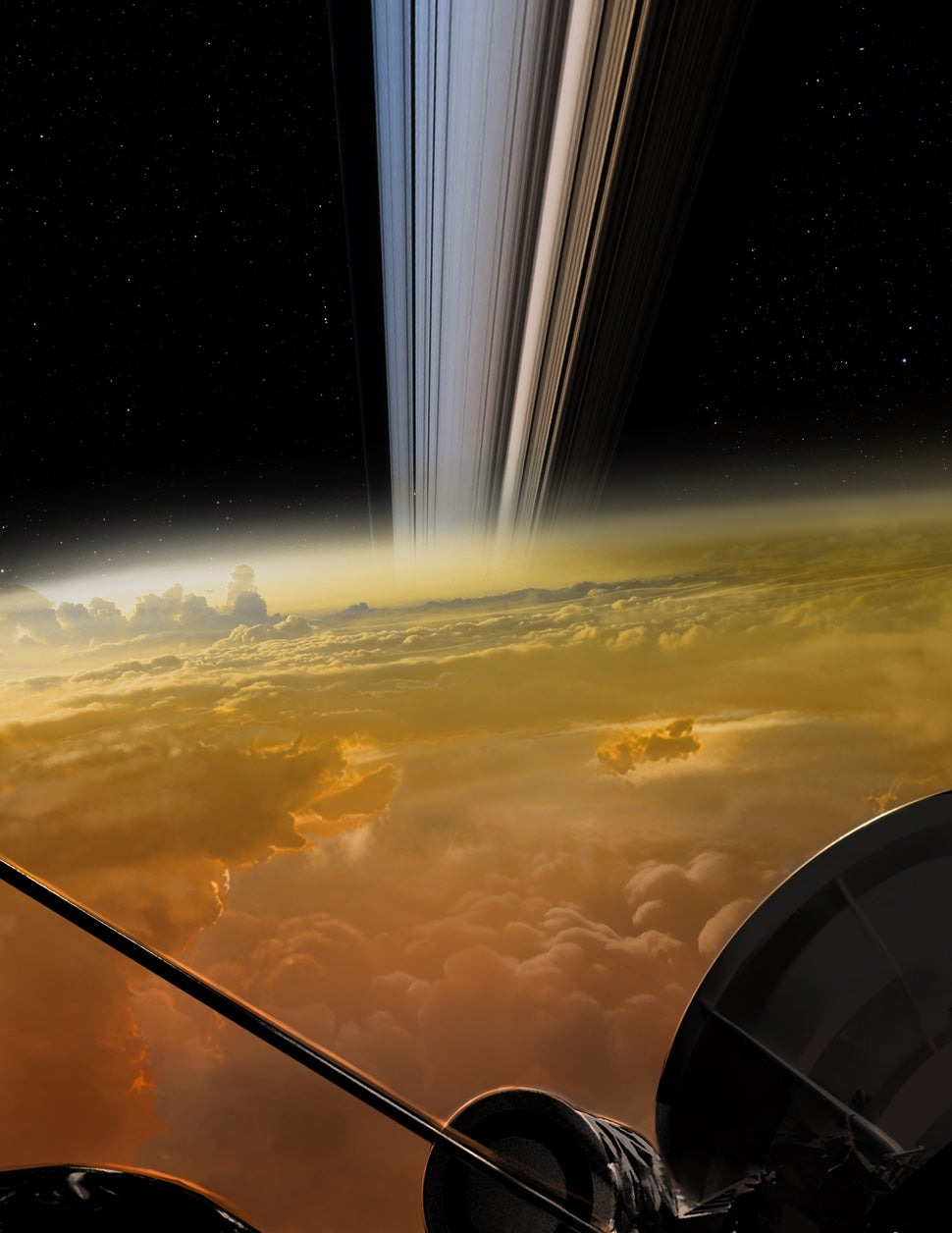 the best attitude a15ed 5e09e An artist s depiction of Cassini s last moment, created by NASA  (Illustration  NASA)