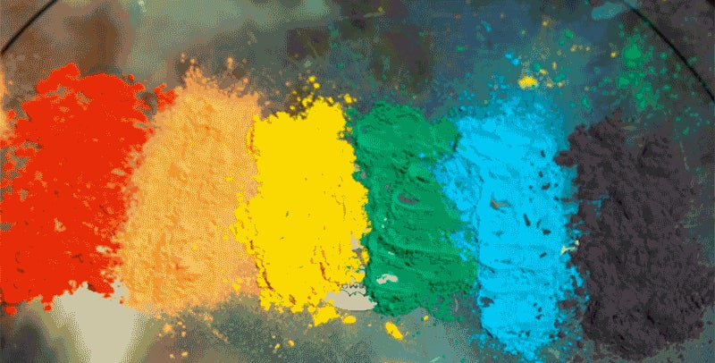 Paint Powder on a Drum Becomes an Explosive Rainbow With Every Hit