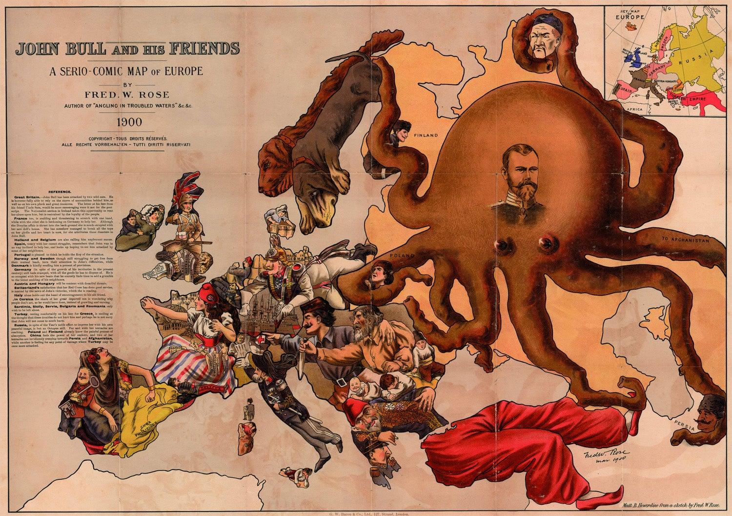 21 Bizarre Maps That Depict Nations As Animals, People, and Monsters