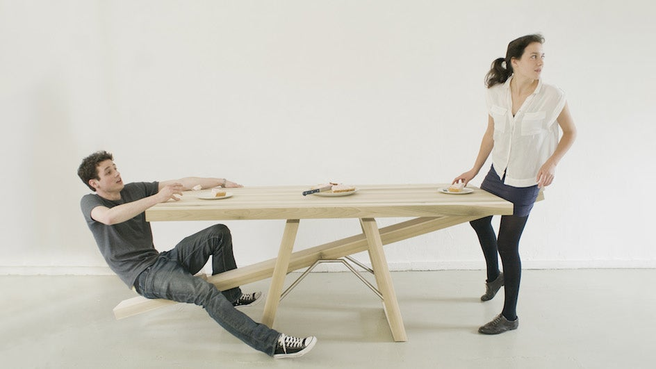 A Seesaw Table Means You'll Never Eat Alone