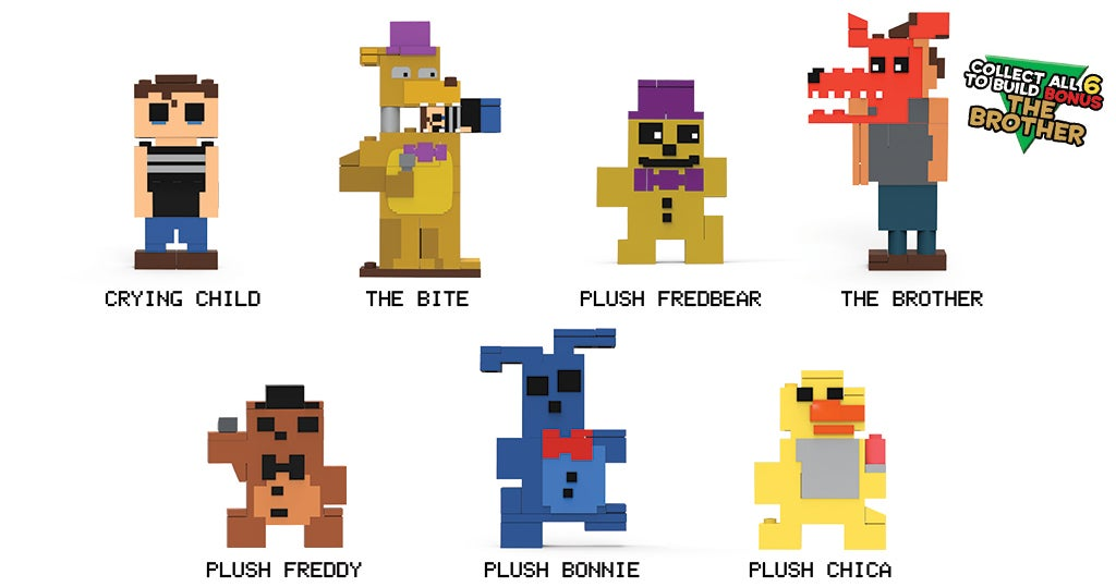 8-Bit Five Nights At Freddy'sFigure Series 2 Goes Straight For The Frontal Lobe