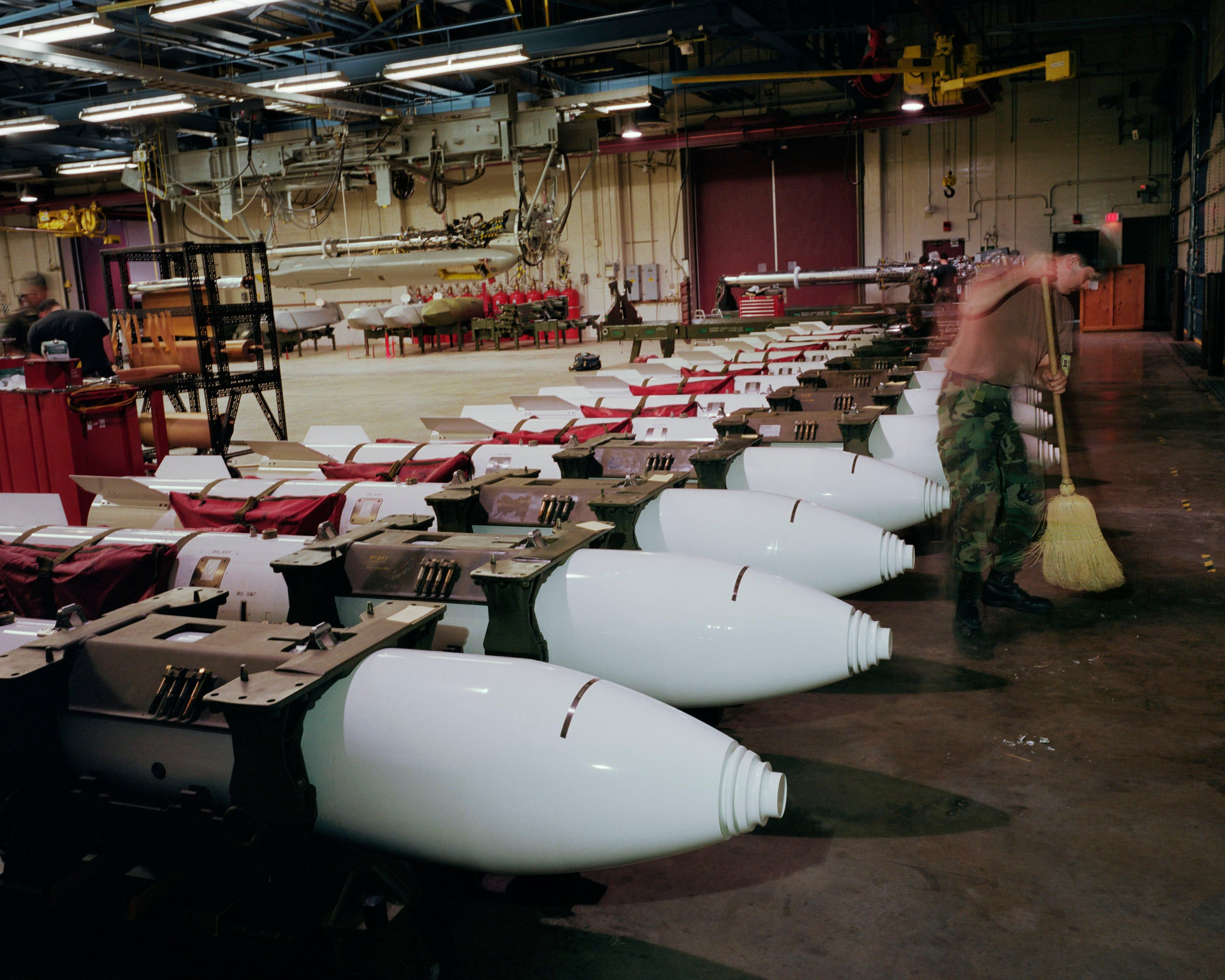 Photo: Paul Shambroom, Untitled (B83 nuclear gravity bombs in Weapons Storage Area, Barksdale Air Force Base, Louisiana.), (#3551/16-17) 1995, Colour coupler print, 48X61 inches Photo Courtesy of Paul Shambroom.