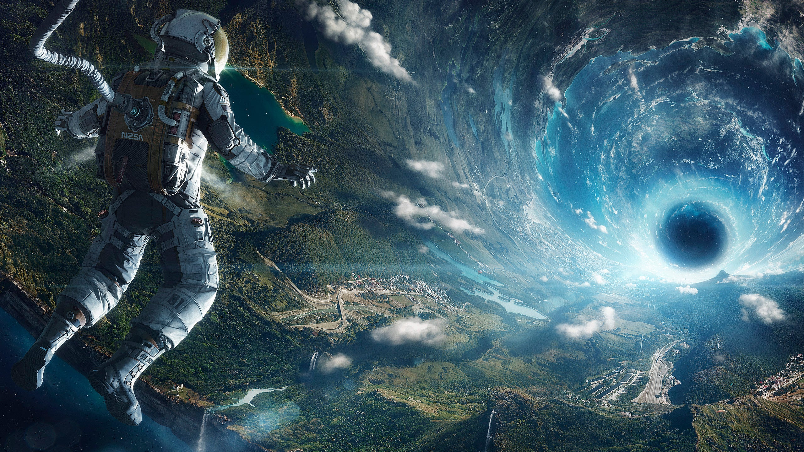 This impressive space illustration was made with 100 for What is outer space made of