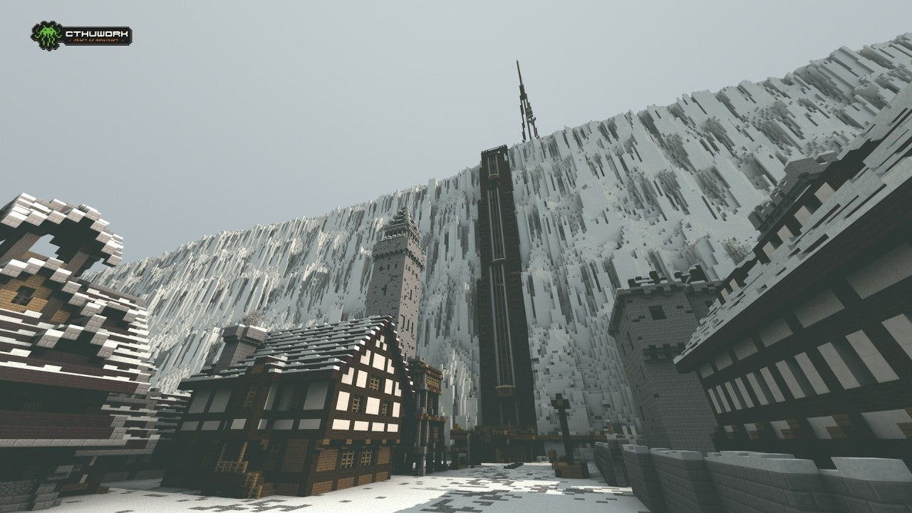 Game of Thrones' Castle Black and the Wall Look Awesome in Minecraft