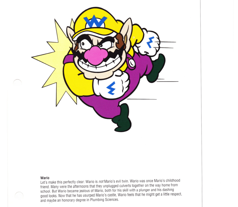 Old Nintendo Manual Says Wario Is Mario's Childhood Friend, Which Is BS
