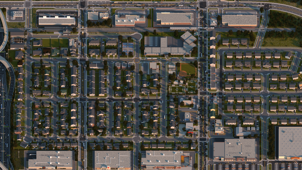 Realistic Minecraft Neighbourhood Looks Straight out of SimCity