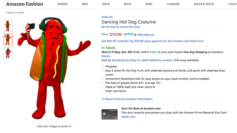 Snap's Latest Hardware Is A Dancing Hot Dog Costume
