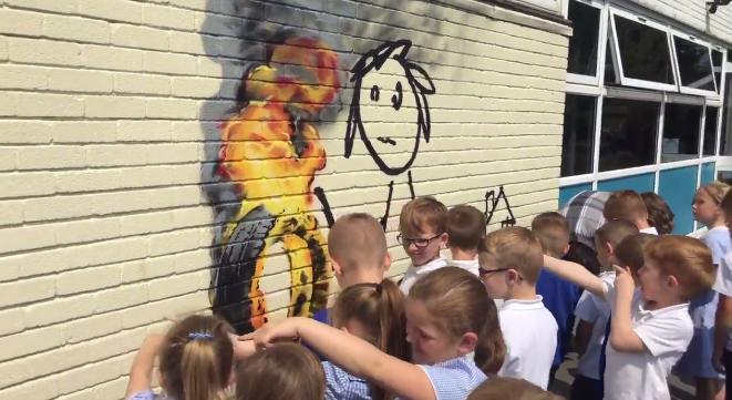 British School Names A House After Banksy, Banksy Gives Them A Mural