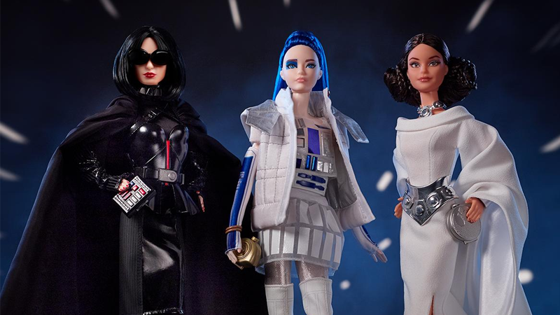 Mattel's New Star Wars Barbies Are Amazingly Extra