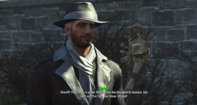 What Happens If You Wear The Silver Shroud Costume In Fallout 4's Nuka World DLC