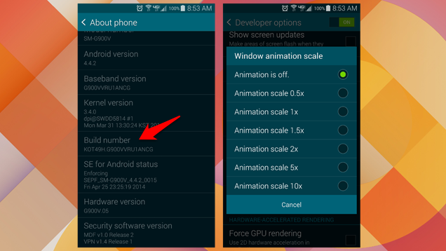 Disable Animations on Android to Improve Performance
