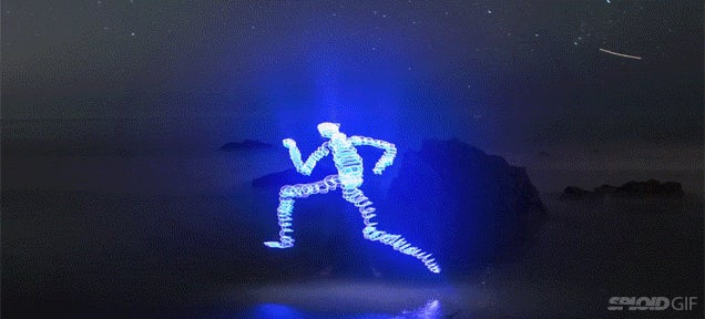 Clever short film is made completely with light paintings