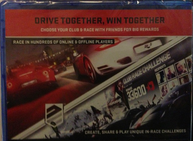 Driveclub's Box Has Some Questionable Grammar