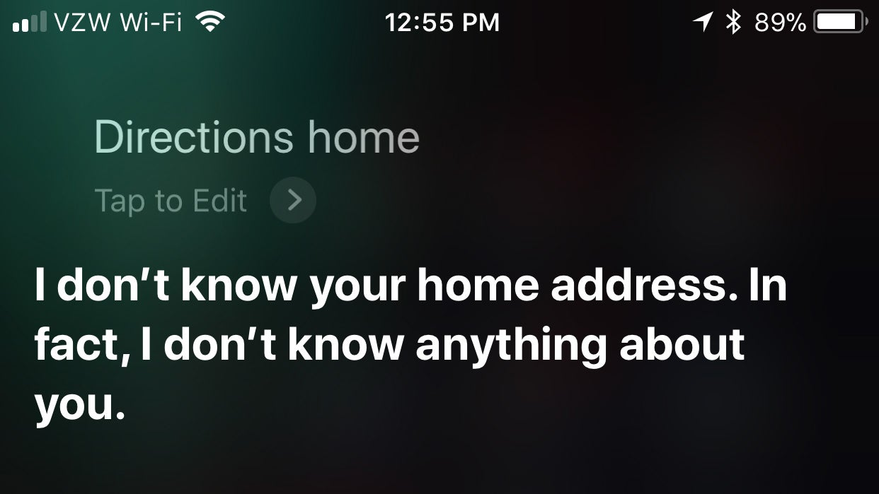 What To Do When Siri Forgets Who You Are
