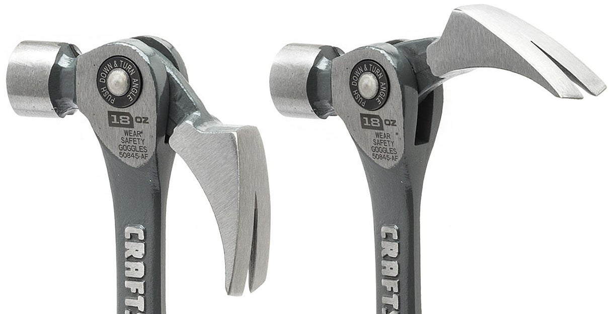 Craftsman's New Hammer Uses an Adjustable Claw to Maximise Pyring Leverage